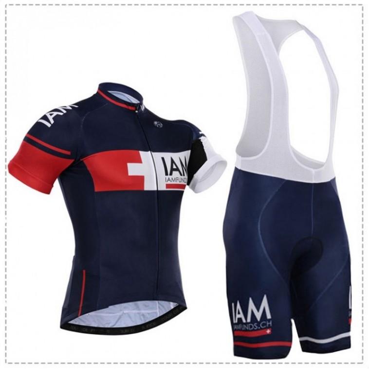 Ensemble cuissard vélo et maillot cyclisme équipe pro IAM