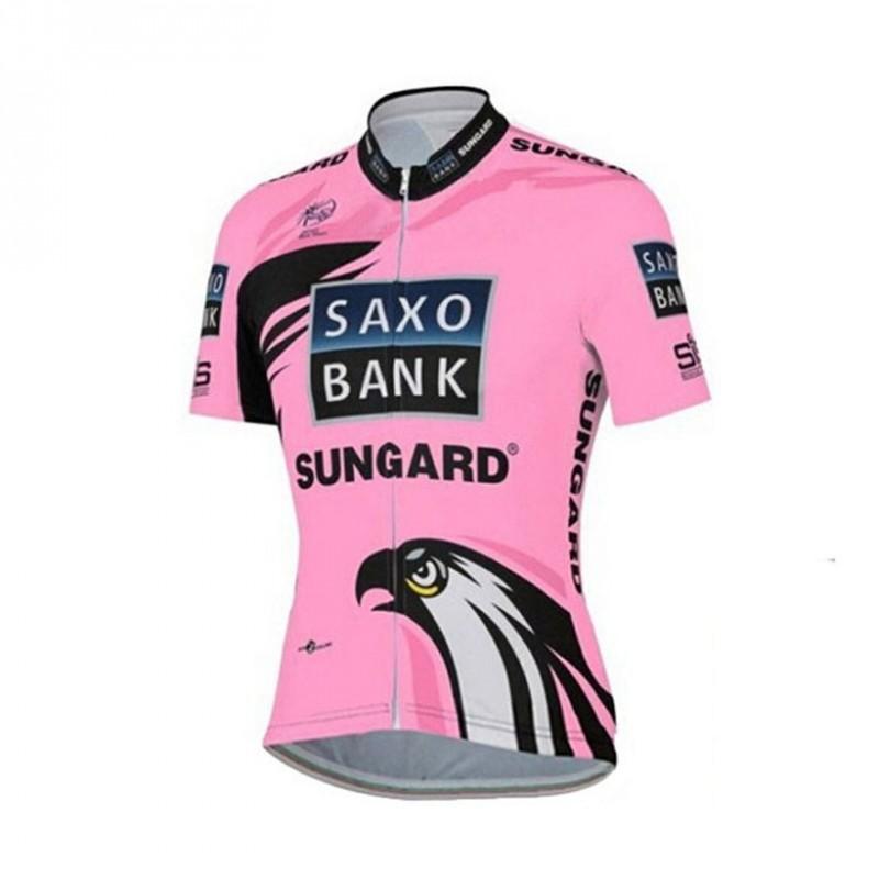 Ensemble cuissard vélo et maillot cyclisme femme Saxo Bank