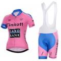 Ensemble cuissard vélo et maillot cyclisme femme équipe pro Tinkoff Saxo