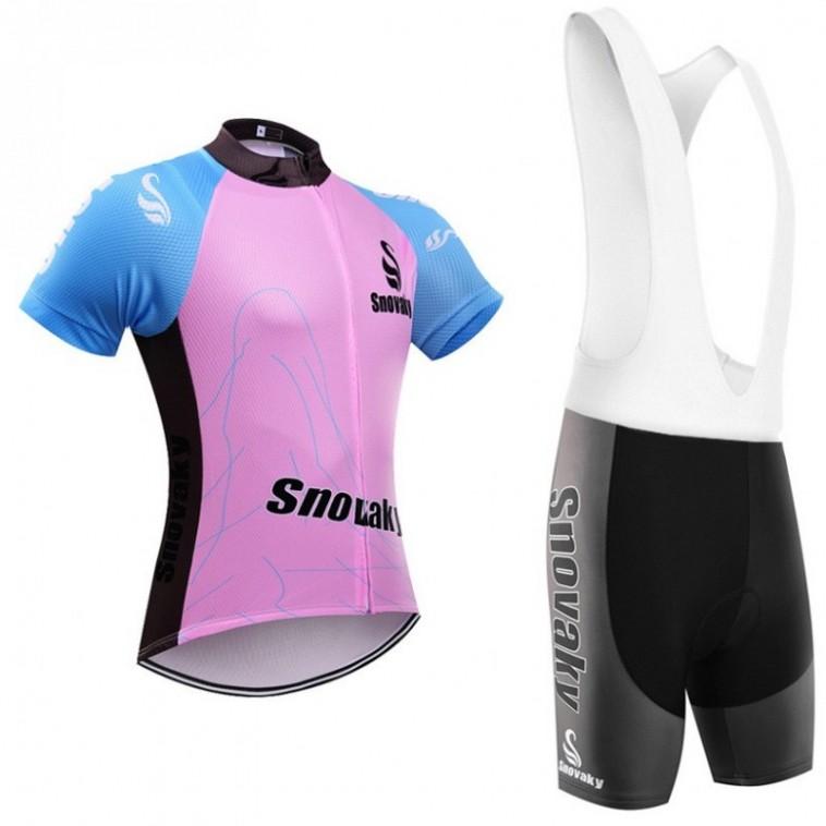 Ensemble cuissard vélo et maillot cyclisme femme Snovaky