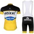 Ensemble cuissard vélo et maillot cyclisme équipe pro Etixx Quick Step jaune