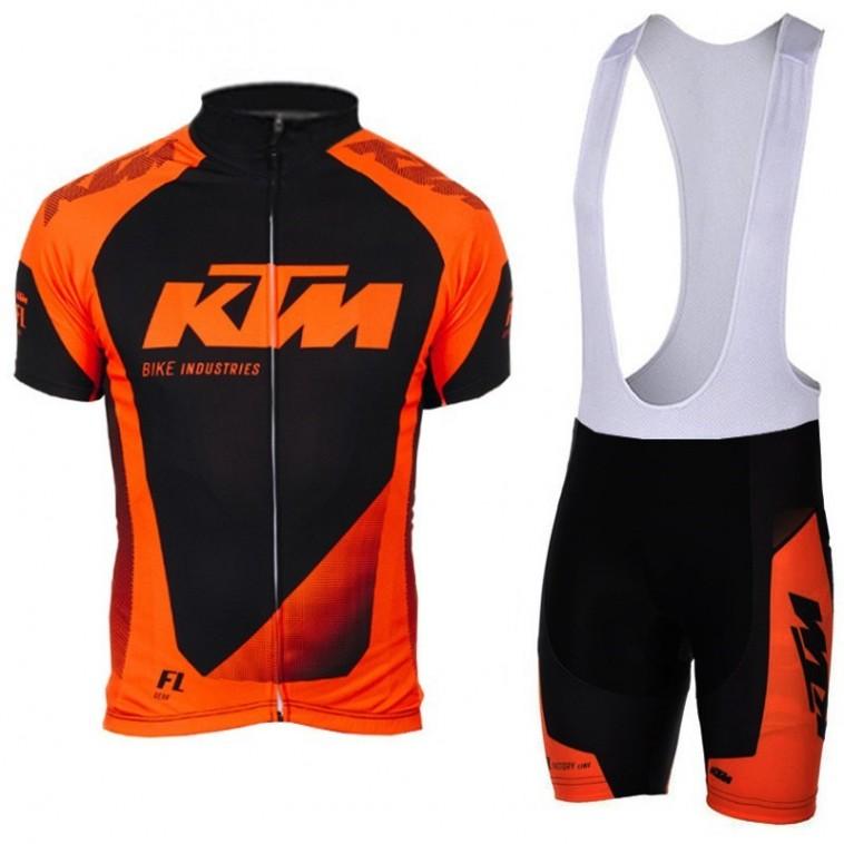 Ensemble cuissard vélo et maillot cyclisme équipe pro KTM