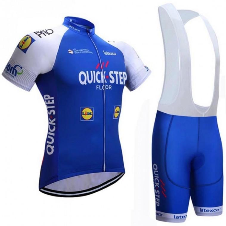 Ensemble cuissard vélo et maillot cyclisme équipe pro Quick Step