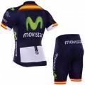 Ensemble cuissard vélo et maillot cyclisme équipe pro Movistar