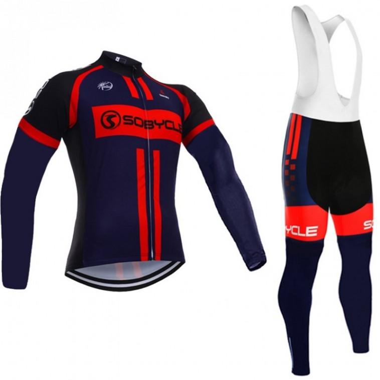 Ensemble cuissard vélo et maillot cyclisme hiver Sobycle