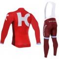 Ensemble cuissard vélo et maillot cyclisme hiver équipe pro Katusha