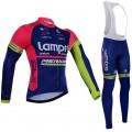 Ensemble cuissard vélo et maillot cyclisme hiver équipe pro Lampre Merida