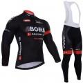 Ensemble cuissard vélo et maillot cyclisme hiver équipe pro Bora Argon