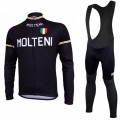 Ensemble cuissard vélo et maillot cyclisme hiver équipe pro Molteni