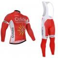 Ensemble cuissard vélo et maillot cyclisme hiver équipe pro Cofidis