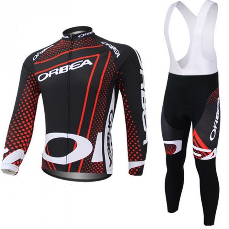 Ensemble cuissard vélo et maillot cyclisme hiver Orbea
