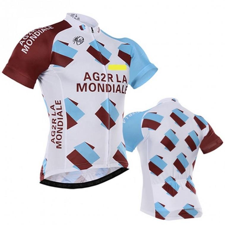 Maillot vélo équipe pro AG2R La Mondiale manches courtes