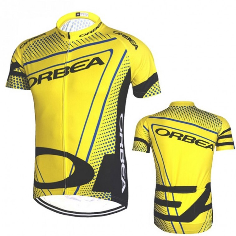 Maillot vélo manches courtes Orbea jaune