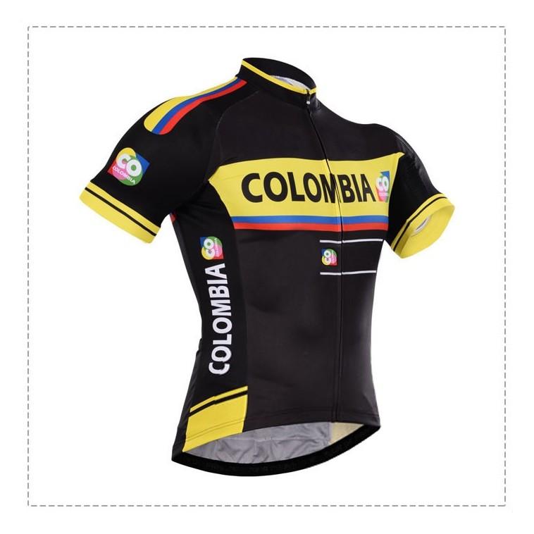 Maillot vélo équipe pro Colombia manches courtes