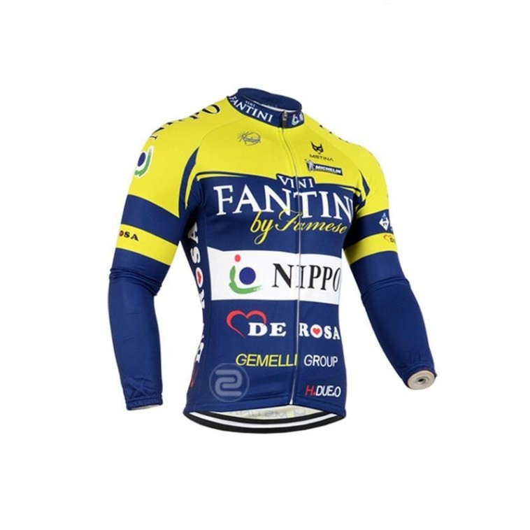 Maillot vélo équipe pro Fantini Nippo manches longues