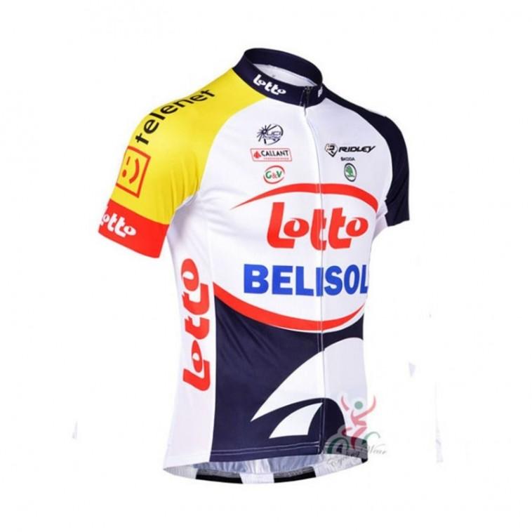 Maillot vélo équipe pro Lotto Soudal Jumbo manches courtes