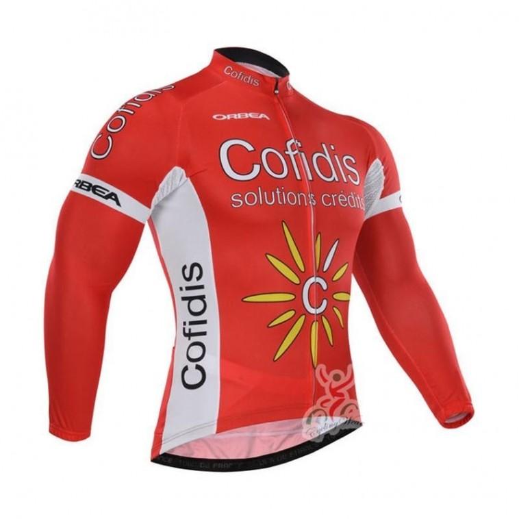 Maillot vélo équipe pro Cofidis manches longues