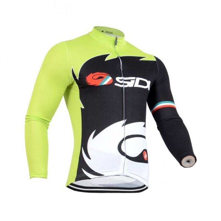 Maillot vélo équipe pro Sidi manches longues