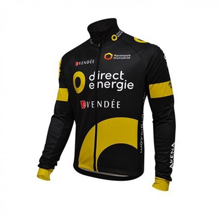 Maillot vélo équipe pro Direct Energie Vendée manches longues hiver polaire thermique