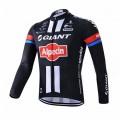 Maillot vélo équipe pro Giant manches longues hiver polaire thermique