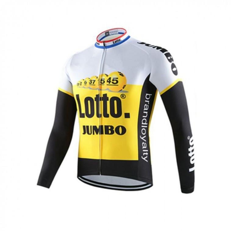 Maillot vélo équipe pro Lotto Jumbomanches longues hiver polaire thermique