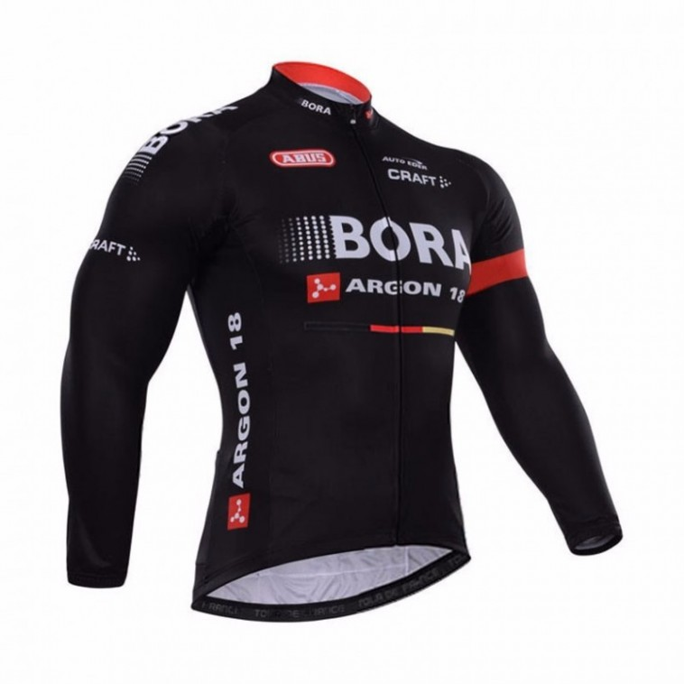 Maillot vélo équipe pro Bora manches longues hiver polaire thermique