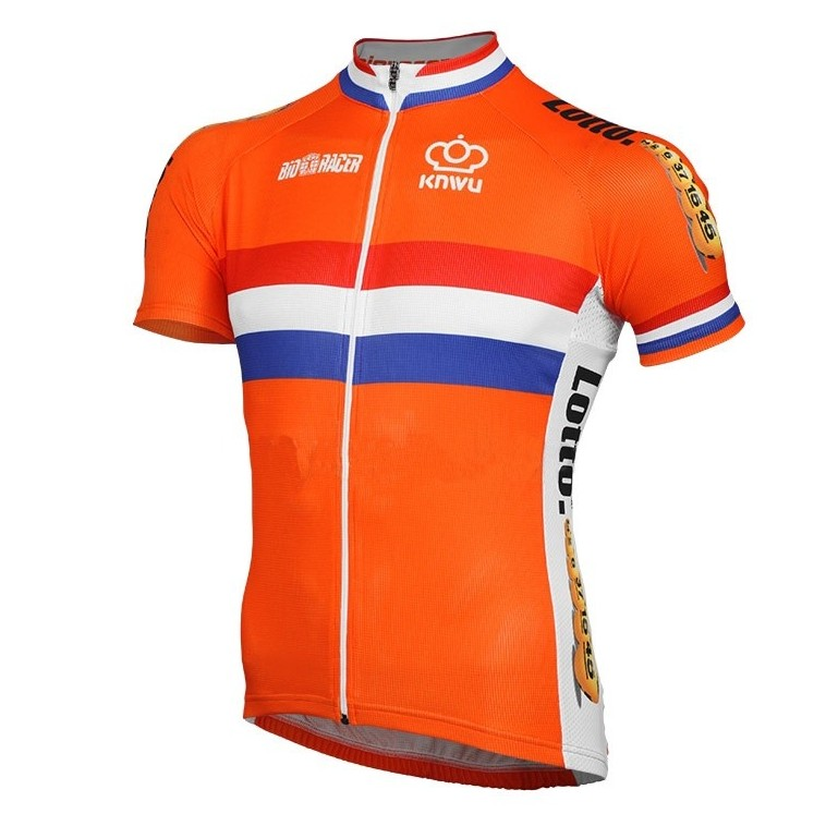 Maillot vélo équipe nationale Néerlandaise Dutch team manches courtes