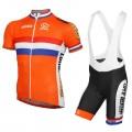Ensemble cuissard vélo et maillot cyclisme équipe nationale Néerlandaise Dutch team