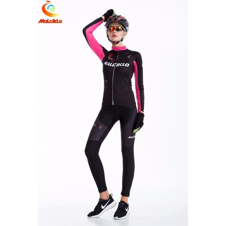Ensemble cuissard vélo et maillot cyclisme hiver femmes Malciklo