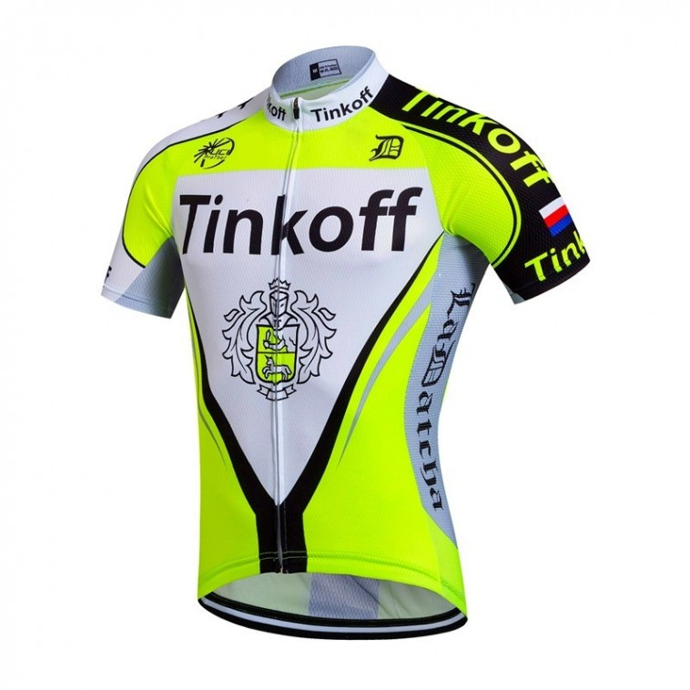 Maillot vélo équipe pro Tinkoff manches courtes