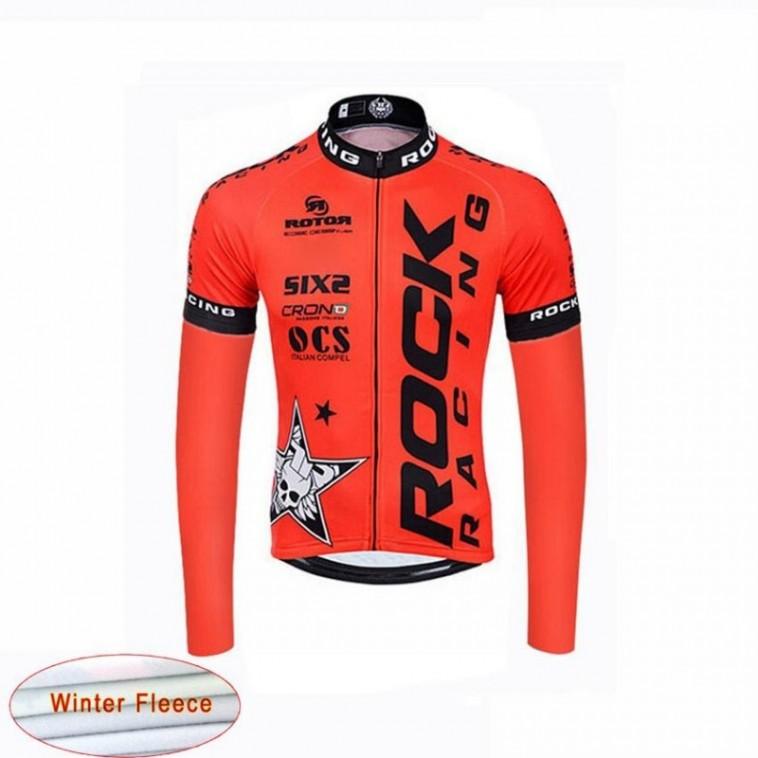 Maillot vélo équipe Rock Racing Pro manches longues hiver polaire thermique