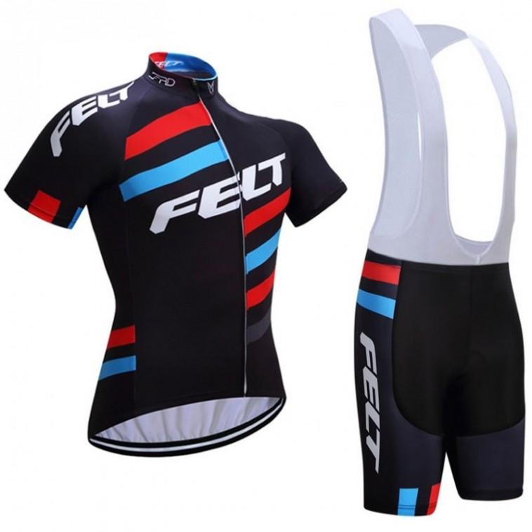 Ensemble cuissard vélo et maillot cyclisme équipe pro Felt