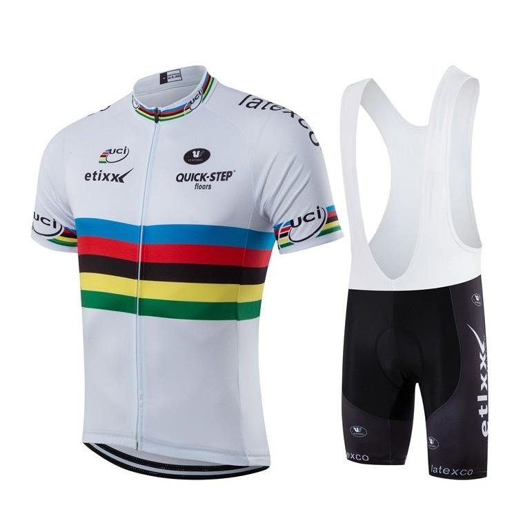 Ensemble cuissard vélo et maillot cyclisme équipe pro Etixx Uci