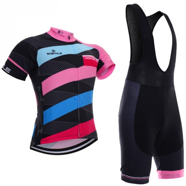 Ensemble cuissard vélo et maillot cyclisme femme Racing Team