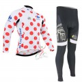 Ensemble cuissard vélo et maillot cyclisme hiver thermique Tour de France