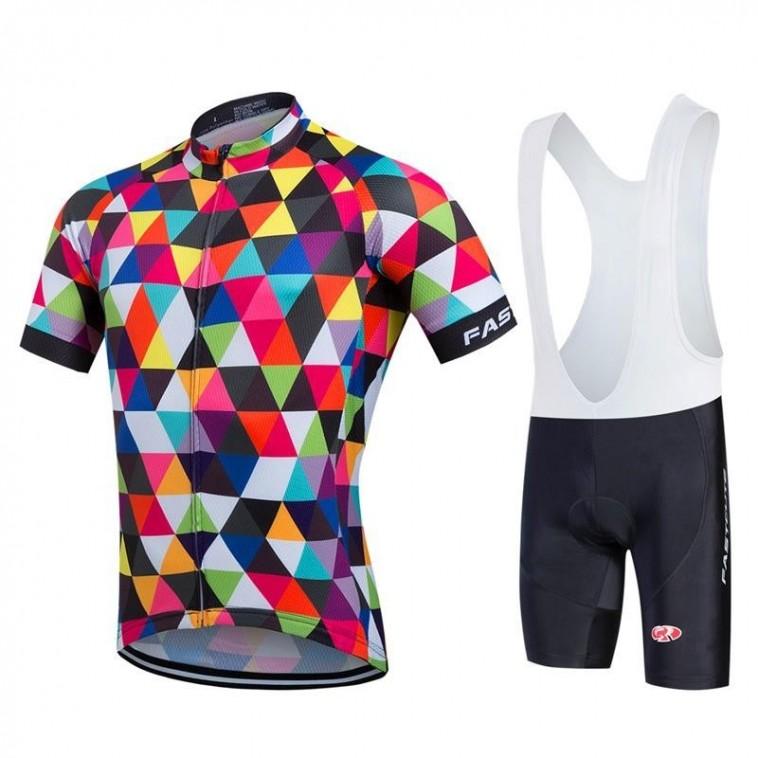 Ensemble cuissard vélo et maillot cyclisme pro FASTCUTE 2017