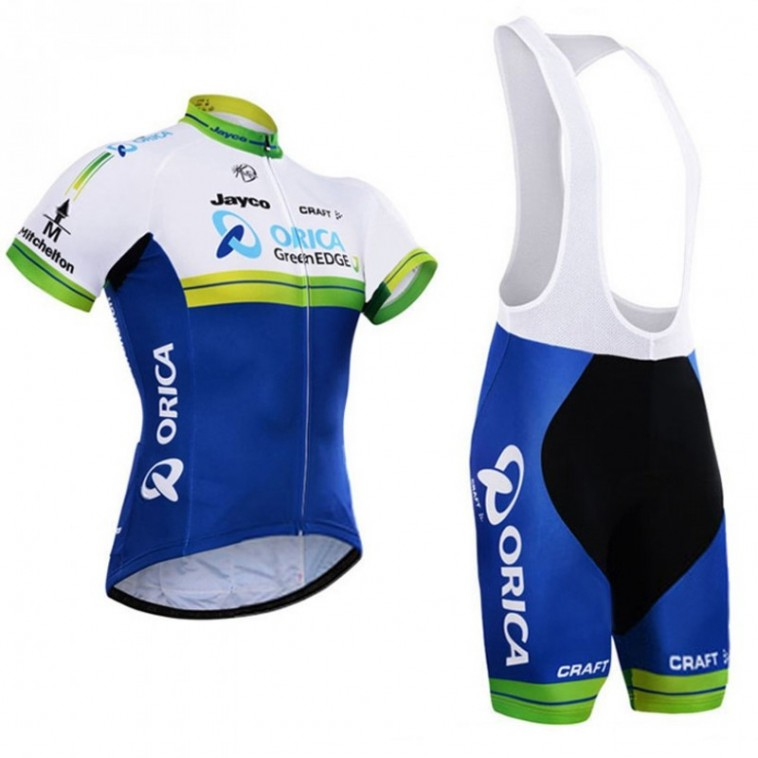 Ensemble cuissard vélo et maillot cyclisme équipe pro Orica GreenEdge