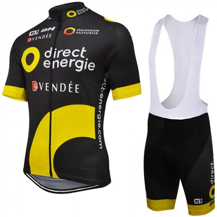 Ensemble cuissard vélo et maillot cyclisme équipe pro Direct Energie Alé