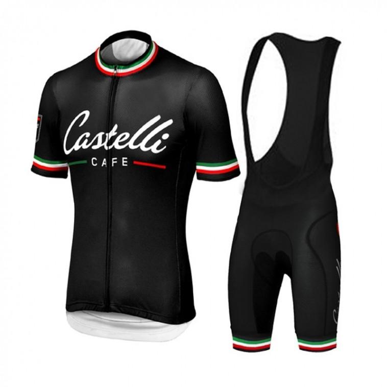 Ensemble cuissard vélo et maillot cyclisme pro Castelli Café