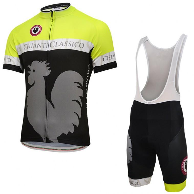 Ensemble cuissard vélo et maillot cyclisme pro Chianti Classico