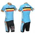 Ensemble cuissard vélo et maillot cyclisme équipe pro Belgique