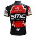 Ensemble cuissard vélo et maillot cyclisme équipe pro BMC Suisse gold