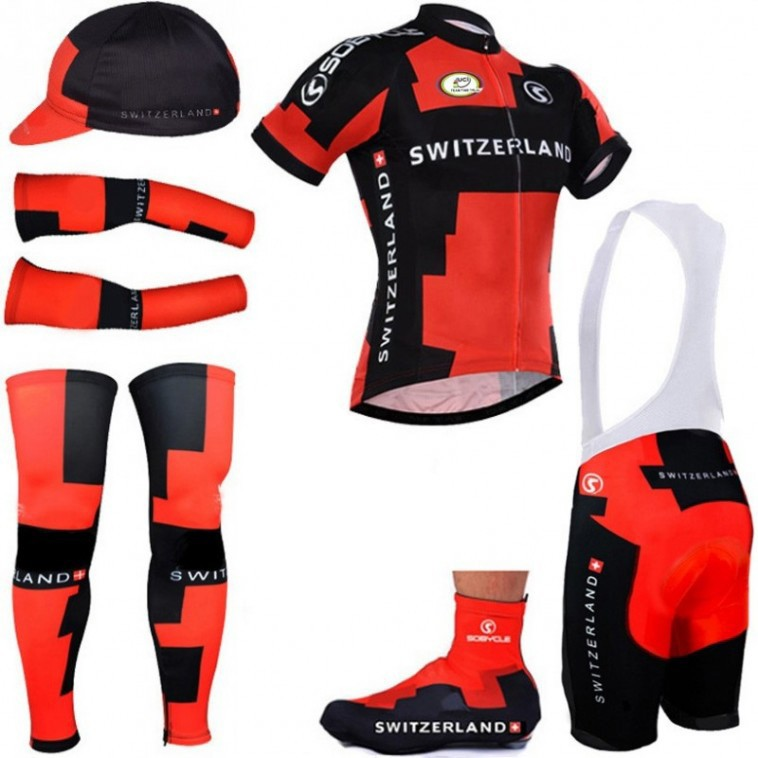 Tenue complète cyclisme suisse Switzerland