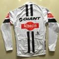 Ensemble cuissard vélo et maillot cyclisme hiver équipe pro Giant