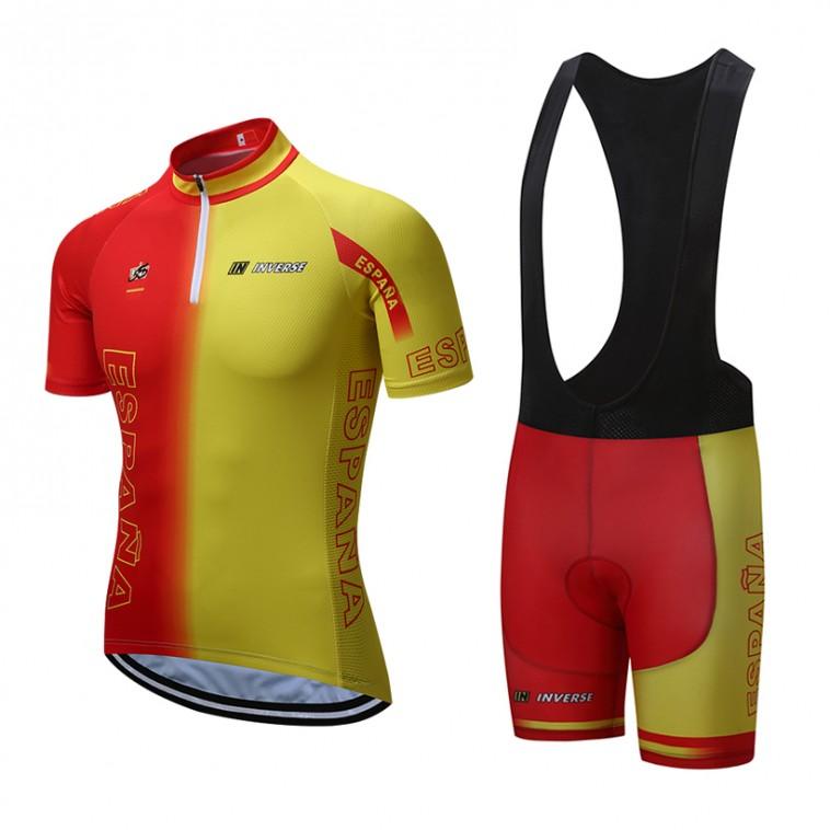 Ensemble cuissard vélo et maillot cyclisme équipe pro Espagne