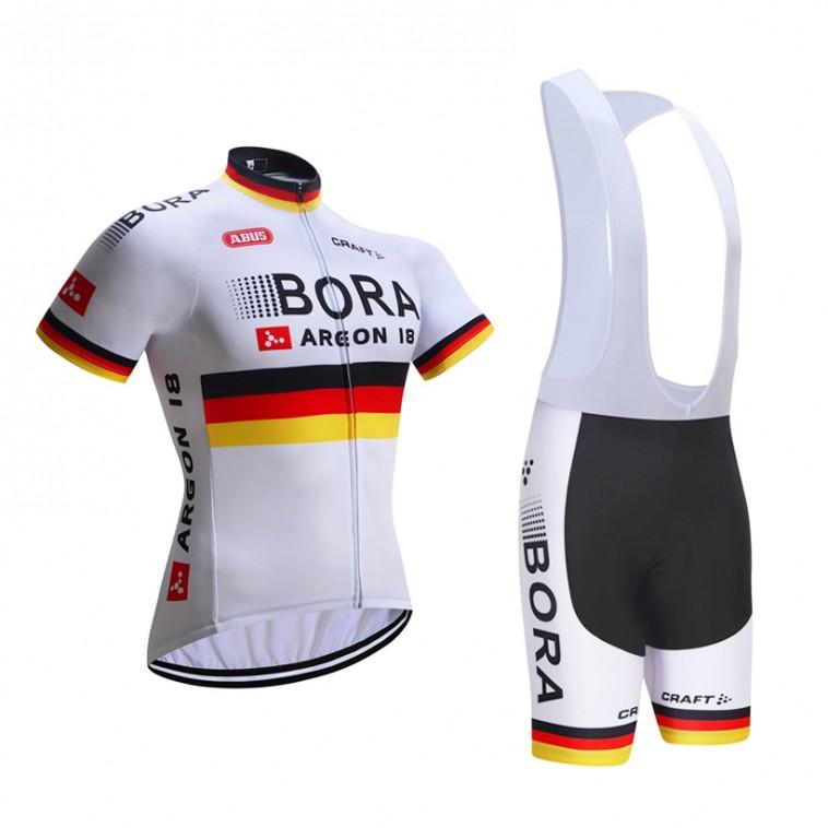 Ensemble cuissard vélo et maillot cyclisme équipe pro Bora Argon Craft