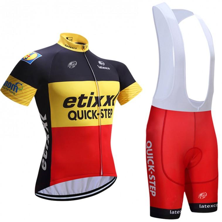 Ensemble cuissard vélo et maillot cyclisme équipe pro Etixx Quick-Step