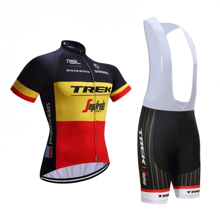 Ensemble cuissard vélo et maillot cyclisme équipe pro Trek Segafredo