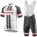 Ensemble cuissard vélo et maillot cyclisme équipe pro Sunweb Giant 2017