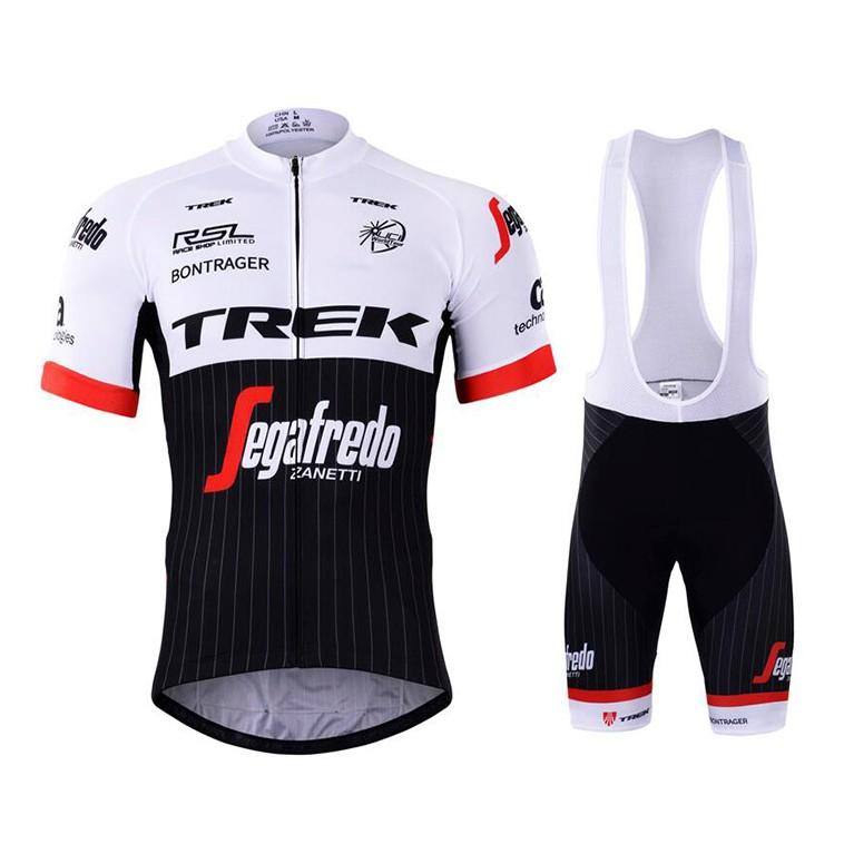 Ensemble cuissard vélo et maillot cyclisme équipe pro Trek Segafredo 2017